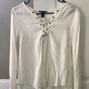 White cross cross blouse